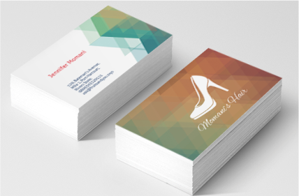 Two sided business cards printivo for 2 sided business cards templates free