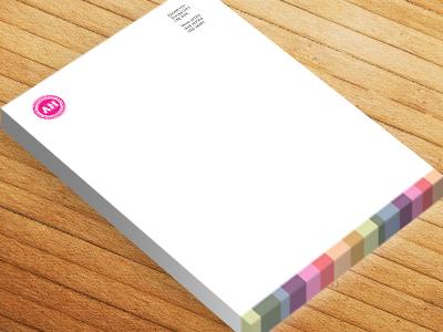 Customise Your Design Letterheads Pink Badge Printivo