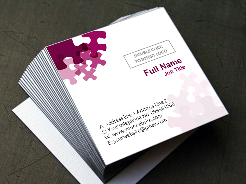 Customise Your Design Square Business Cards 1 Sided