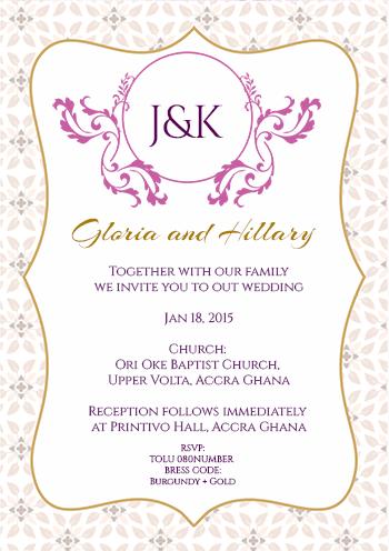 Customise your design wedding invitations classical printivo stopboris Image collections
