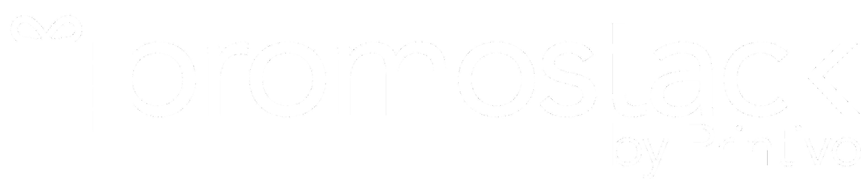 Promostack White Logo.